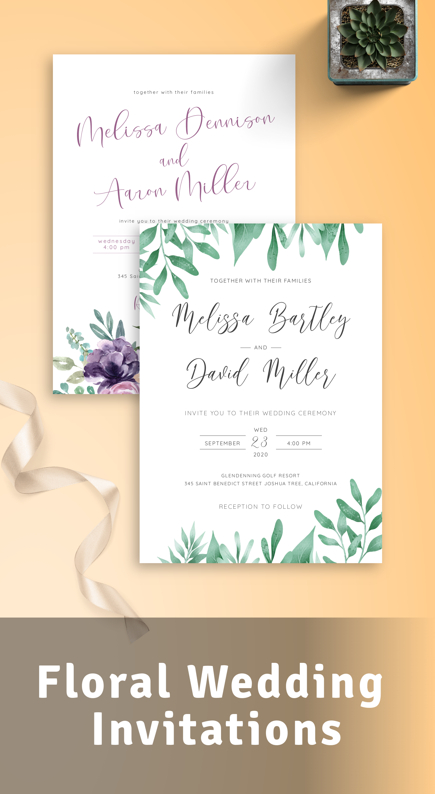 Best Floral Wedding Invitations