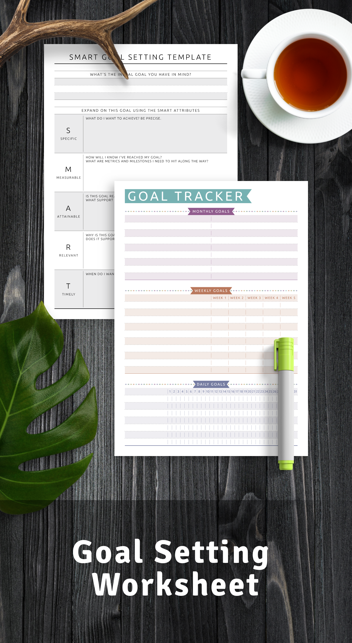 Get Goal Setting Worksheets