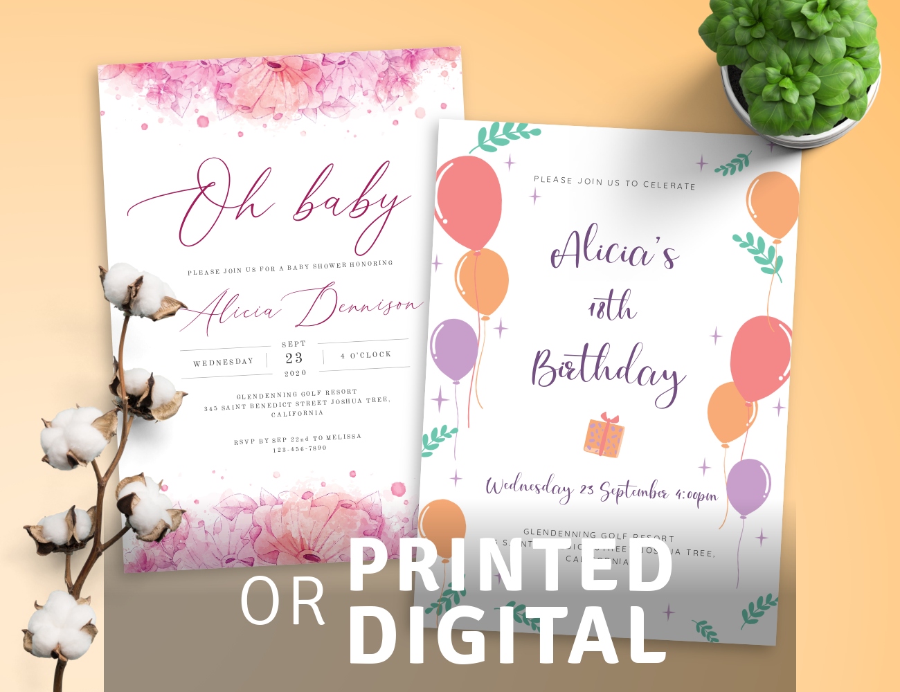 Download or Print Invitation Templates