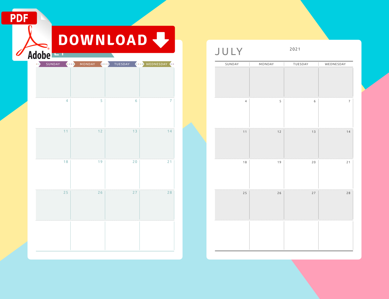 Download July Calendar Templates