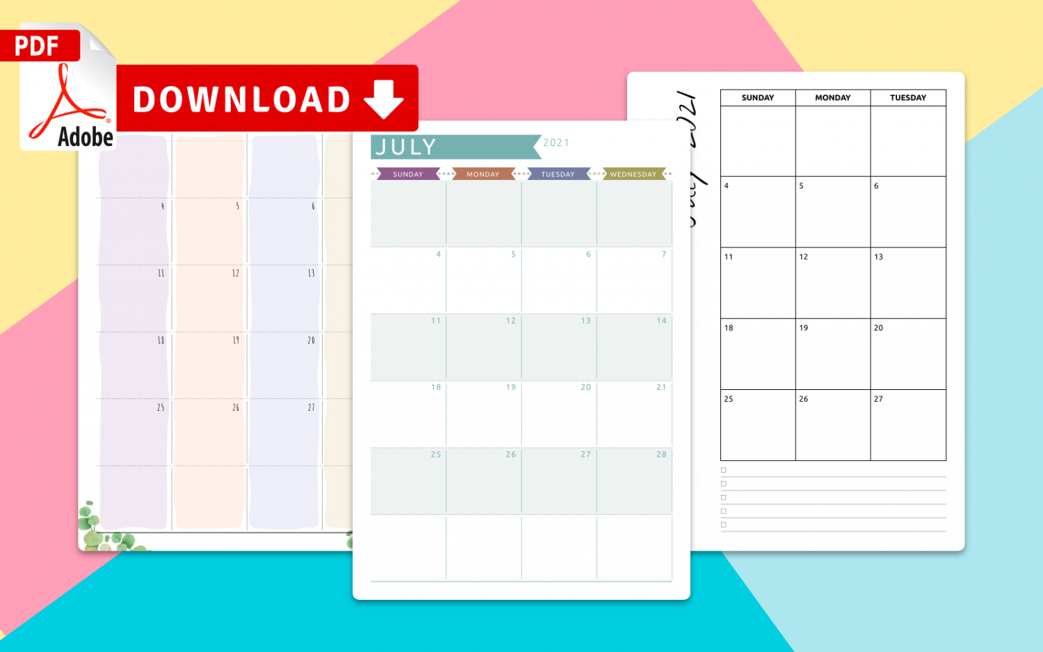 Get July Calendar Templates Now
