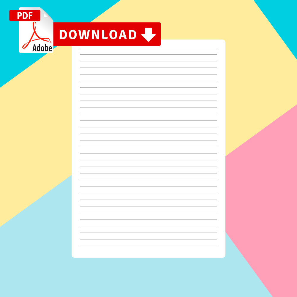 Download Lined Paper Templates