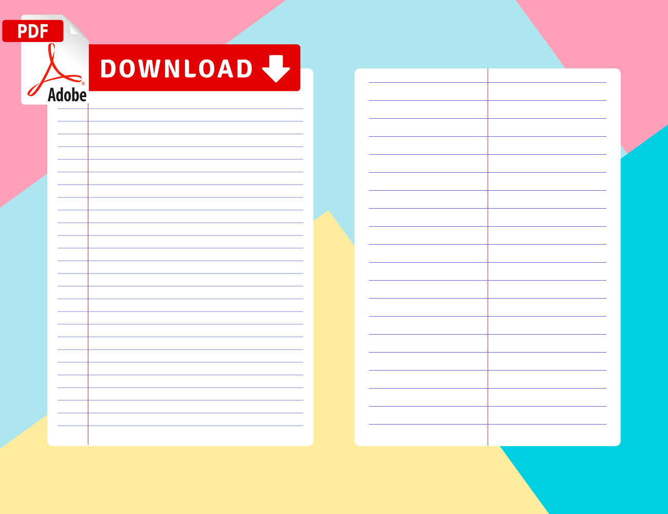Printable Lined Paper Templates