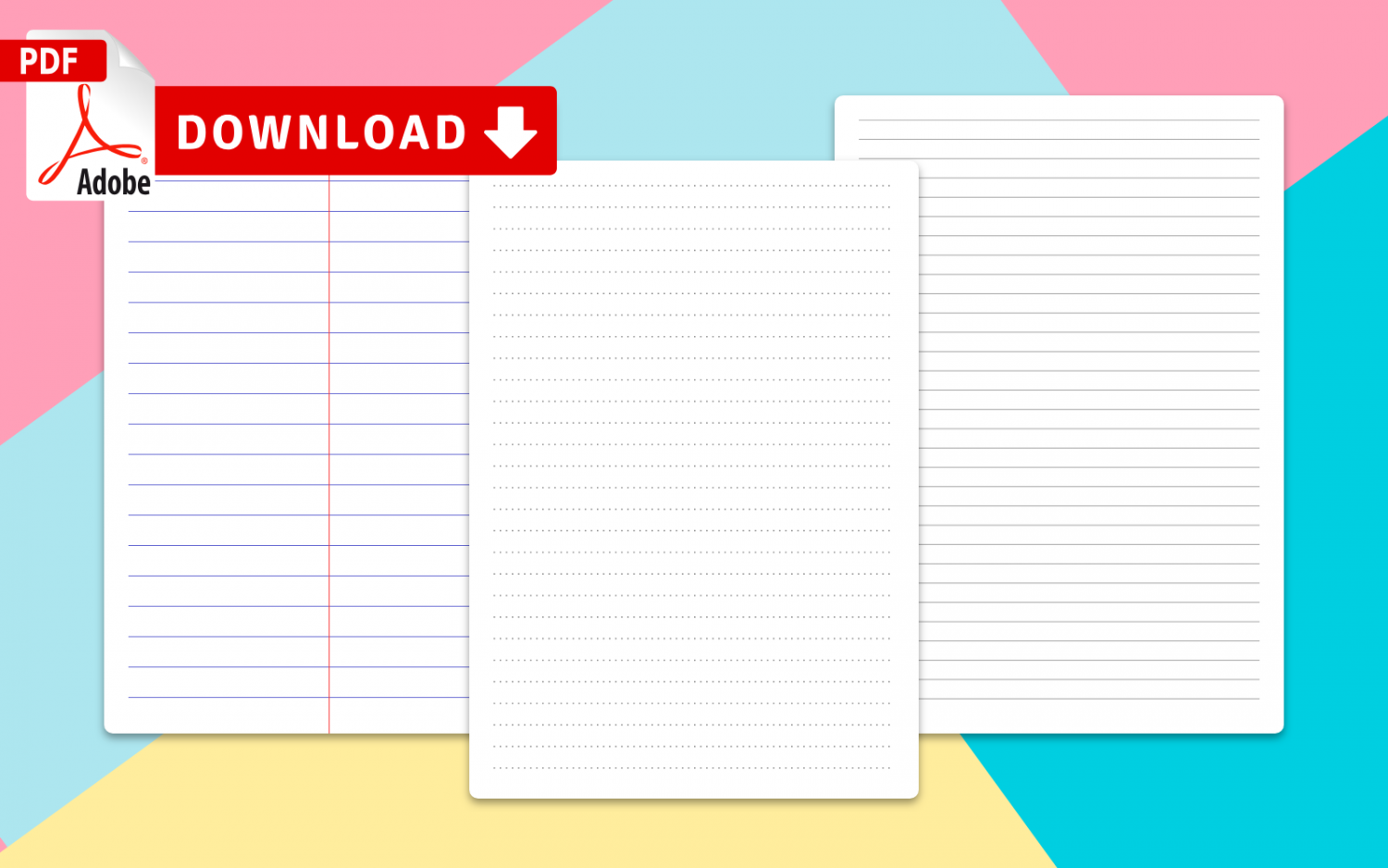 Collection Lined Paper Template Printables