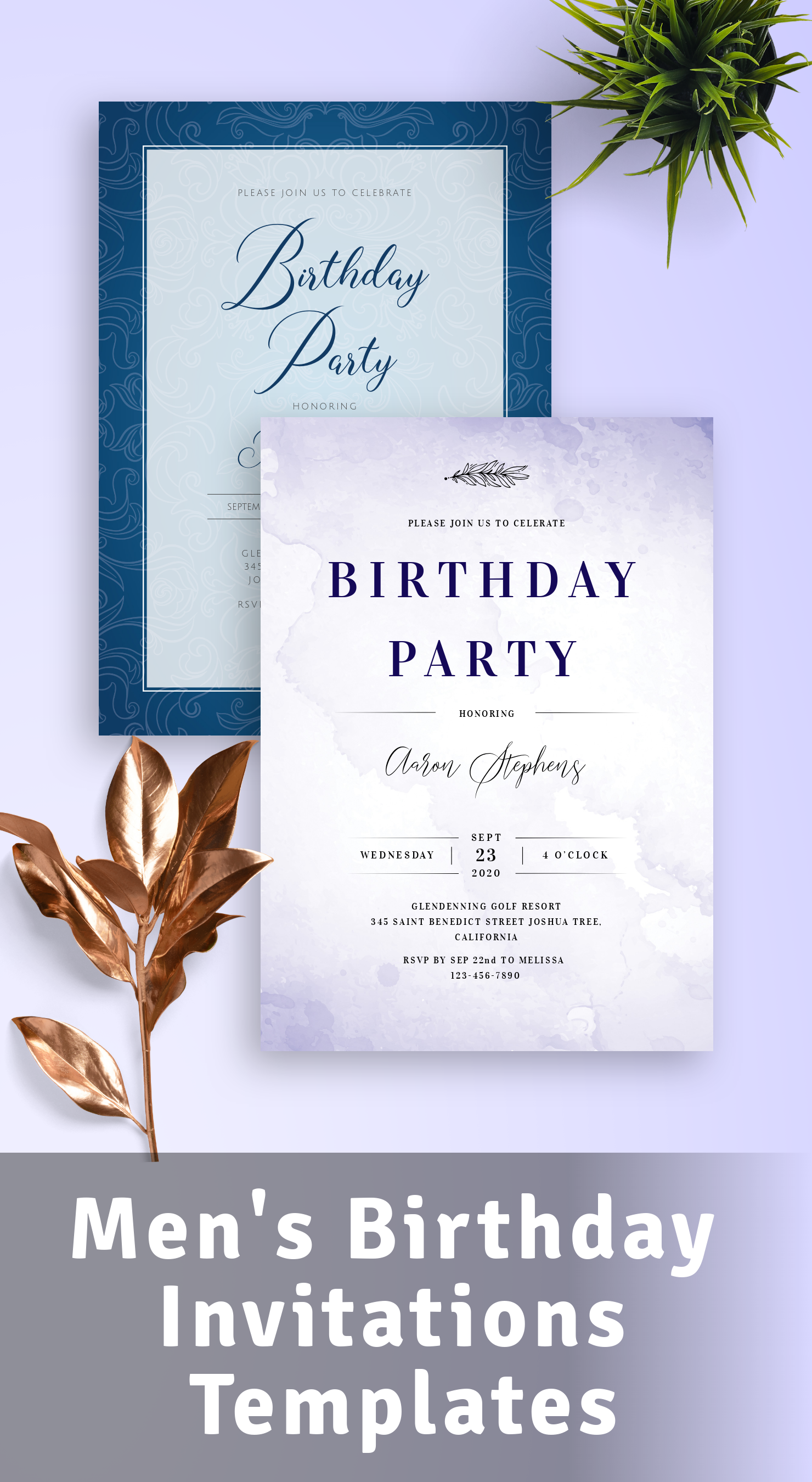 Download Men's Birthday Invitations