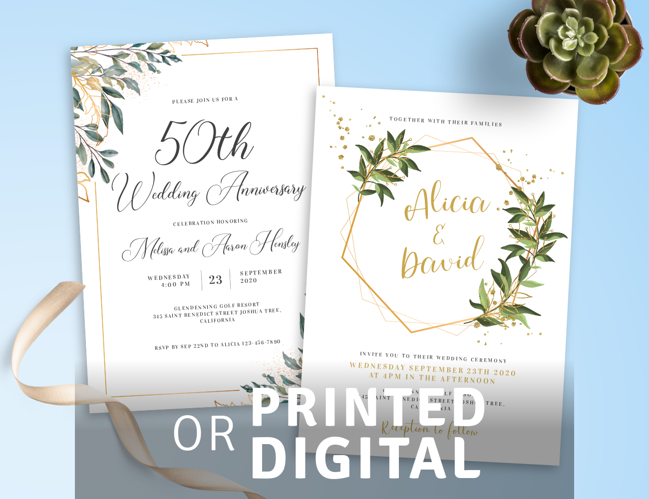 Download or Print Party Invitation Templates