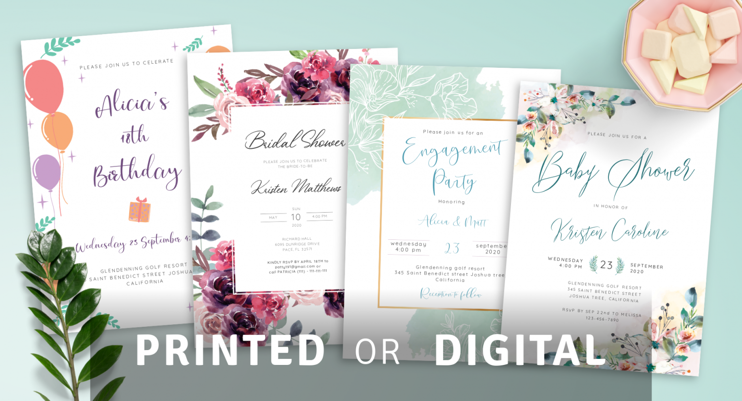 Download Party Invitation Templates