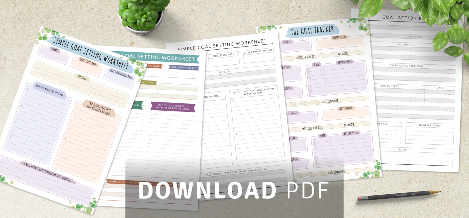 Download Personal Goal Setting Templates