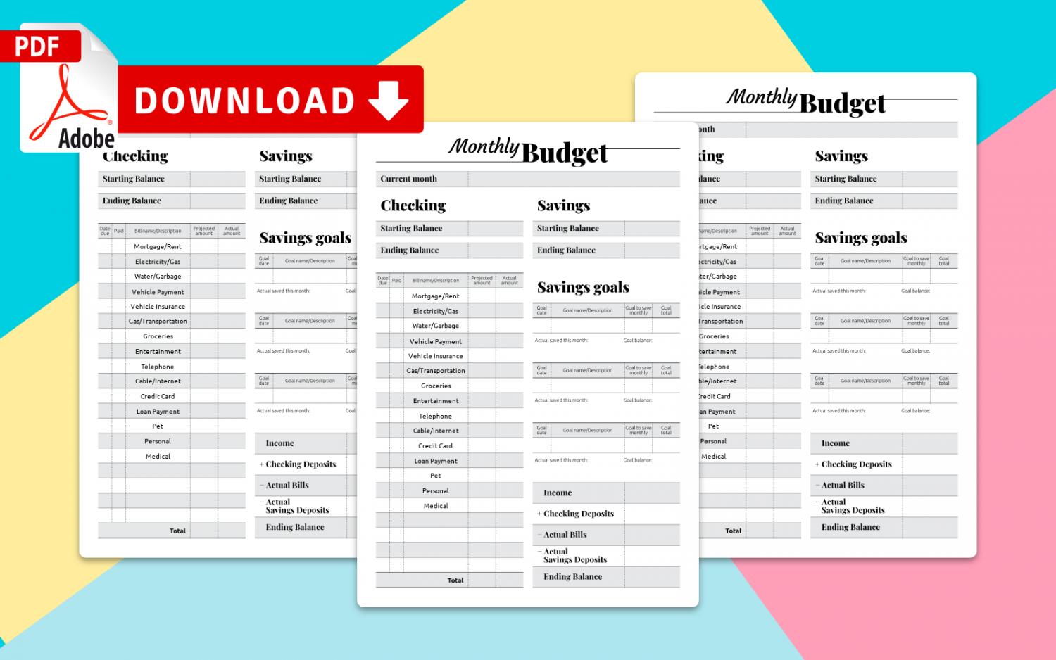 Best Budget Tracker Printable Templates