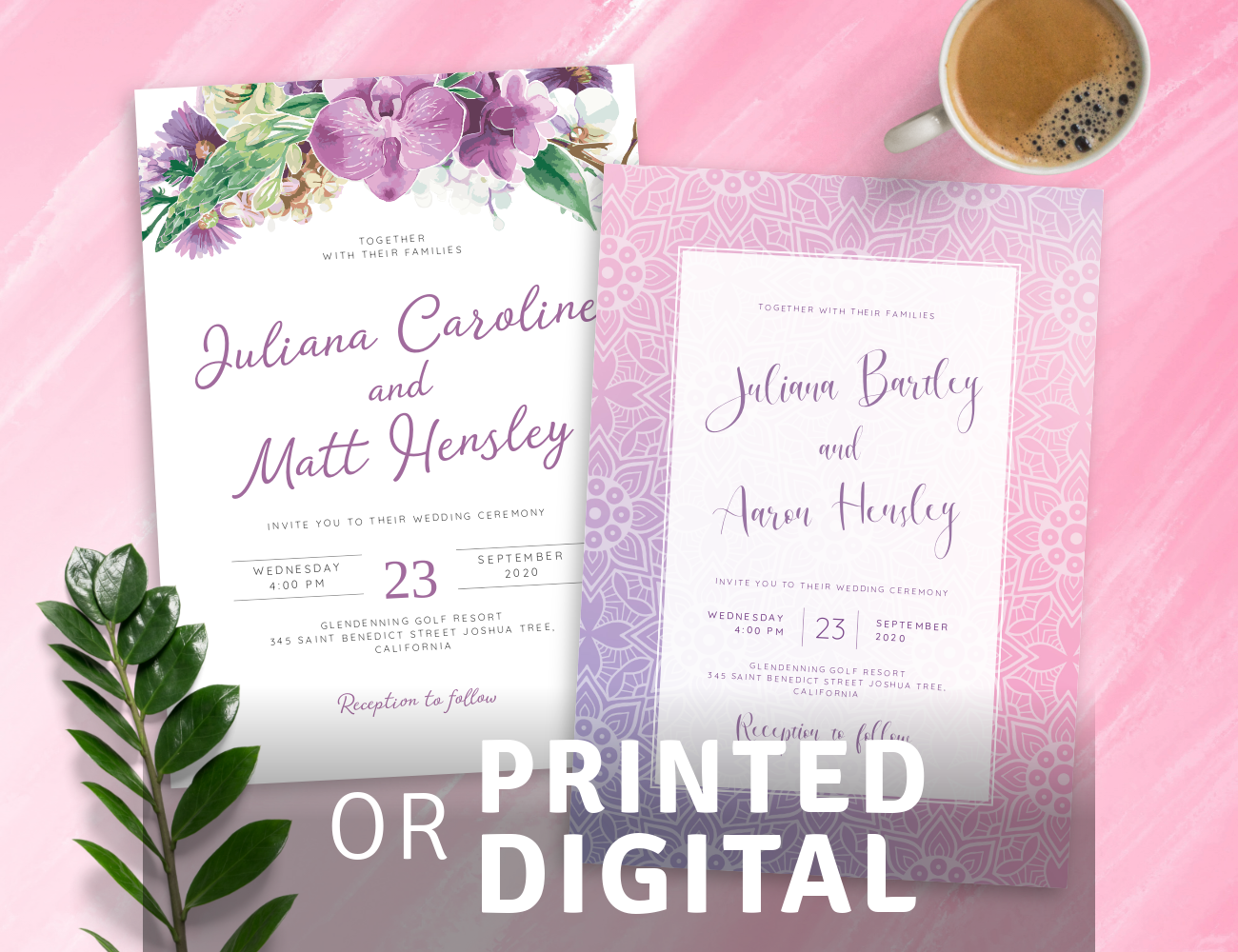 Customize and Make Purple Wedding Invitations