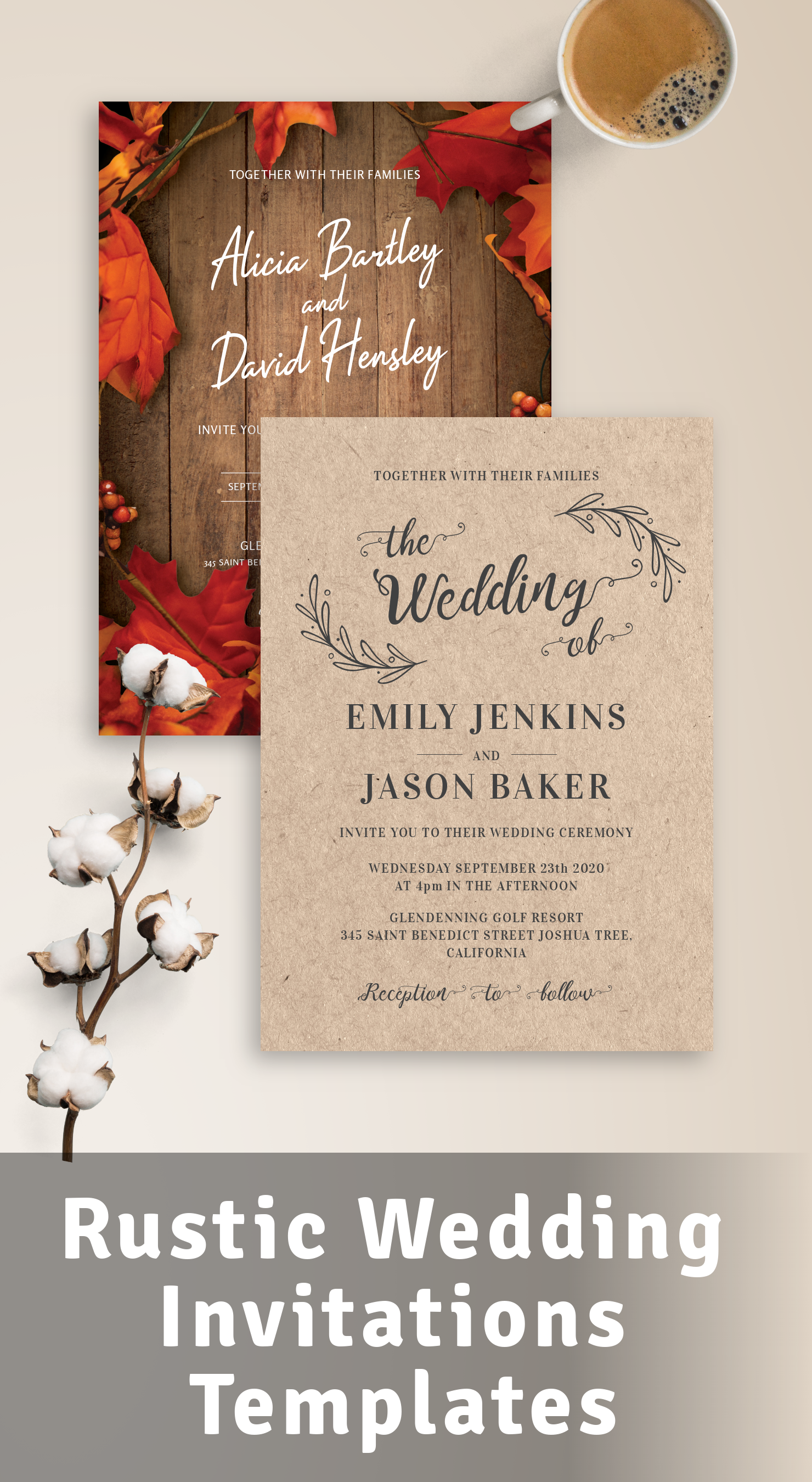 Best Rustic Wedding Invitations