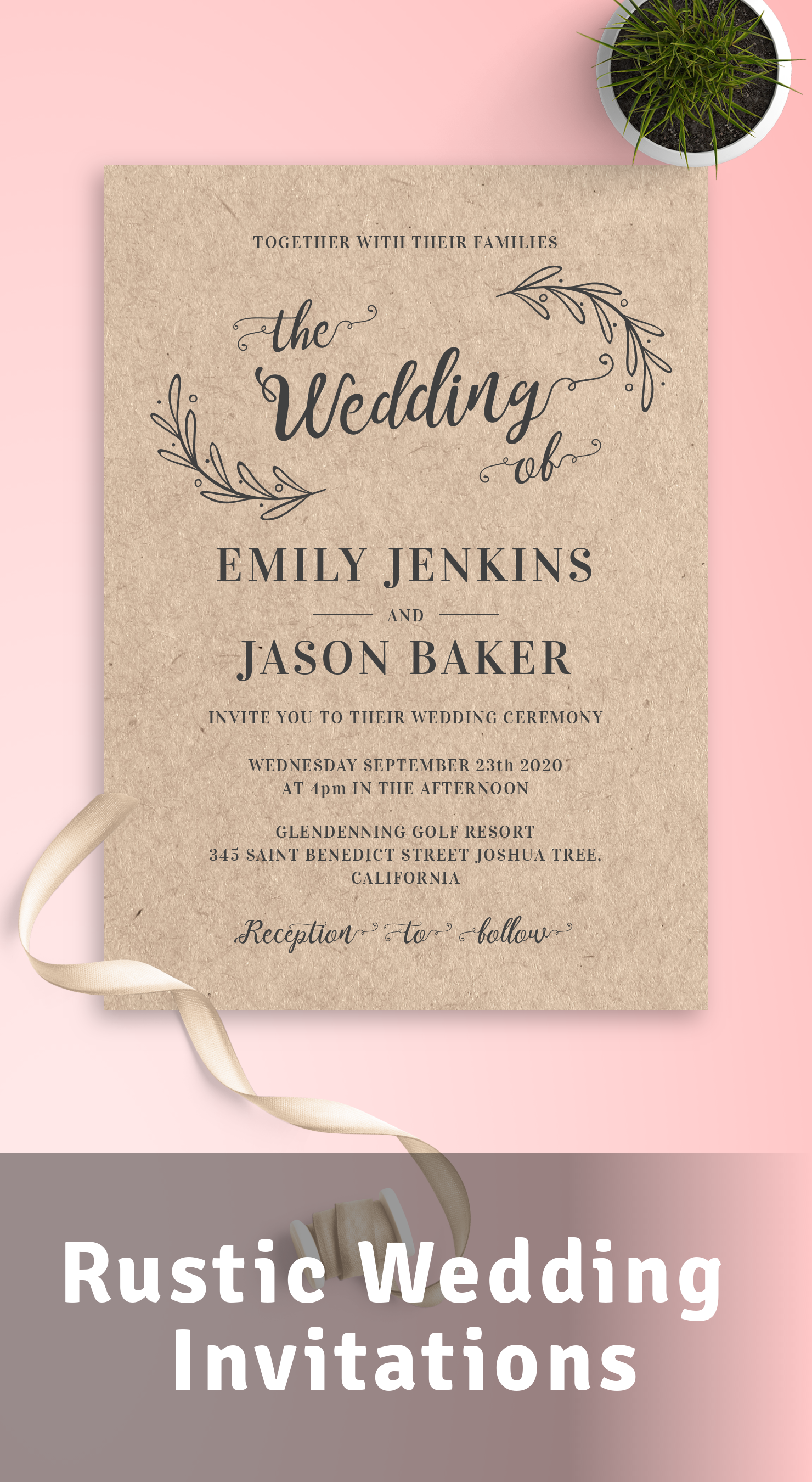 Get Rustic Wedding Invitations