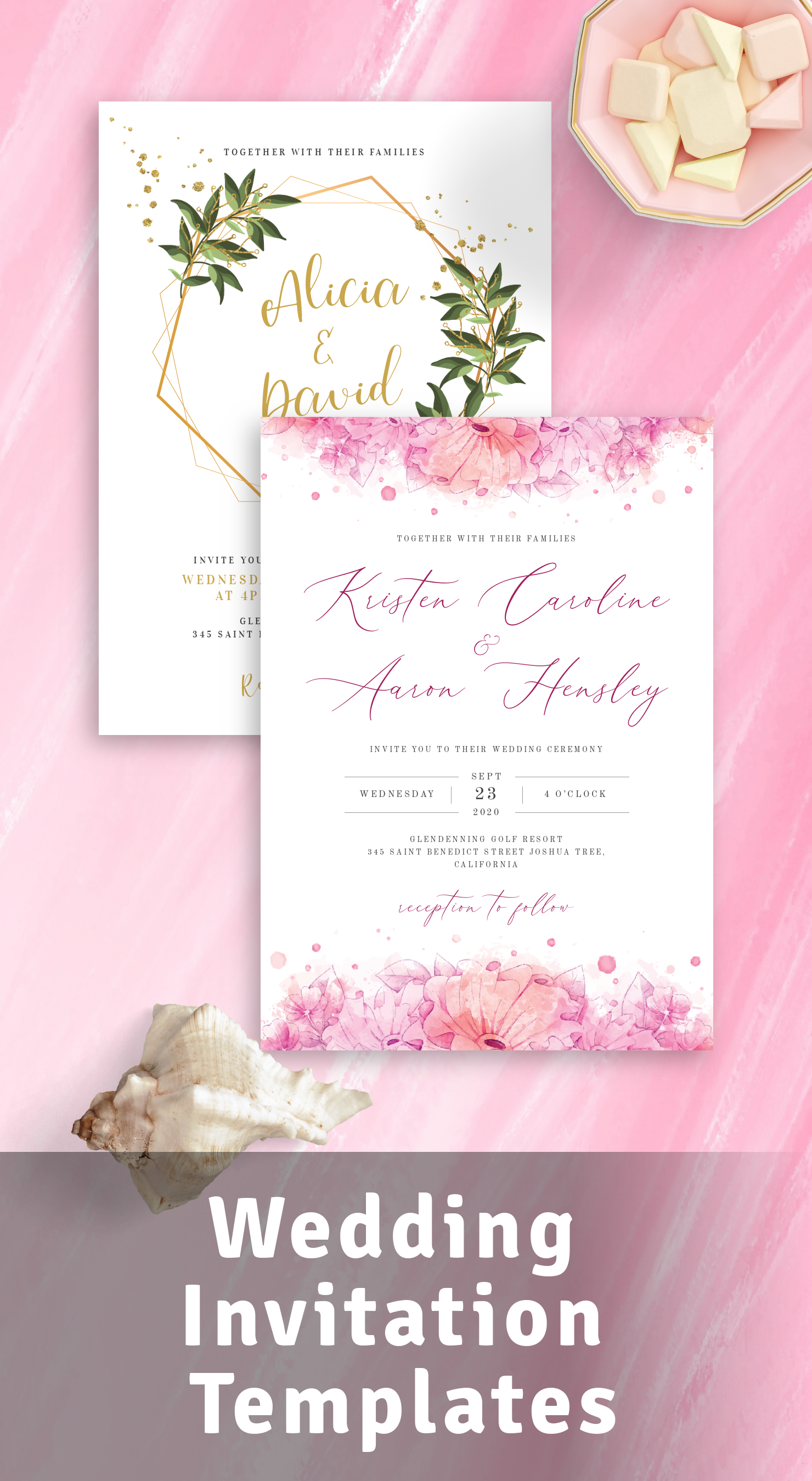 Rustic Floral Wedding Suite Set of 5 Printable Peony Wedding Invites Wedding Invitation Templates Editable PDF Instant Download #118