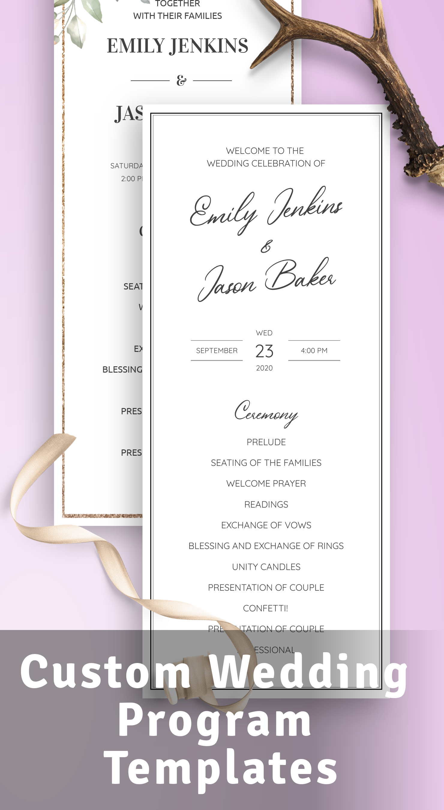 Get Wedding Program Templates