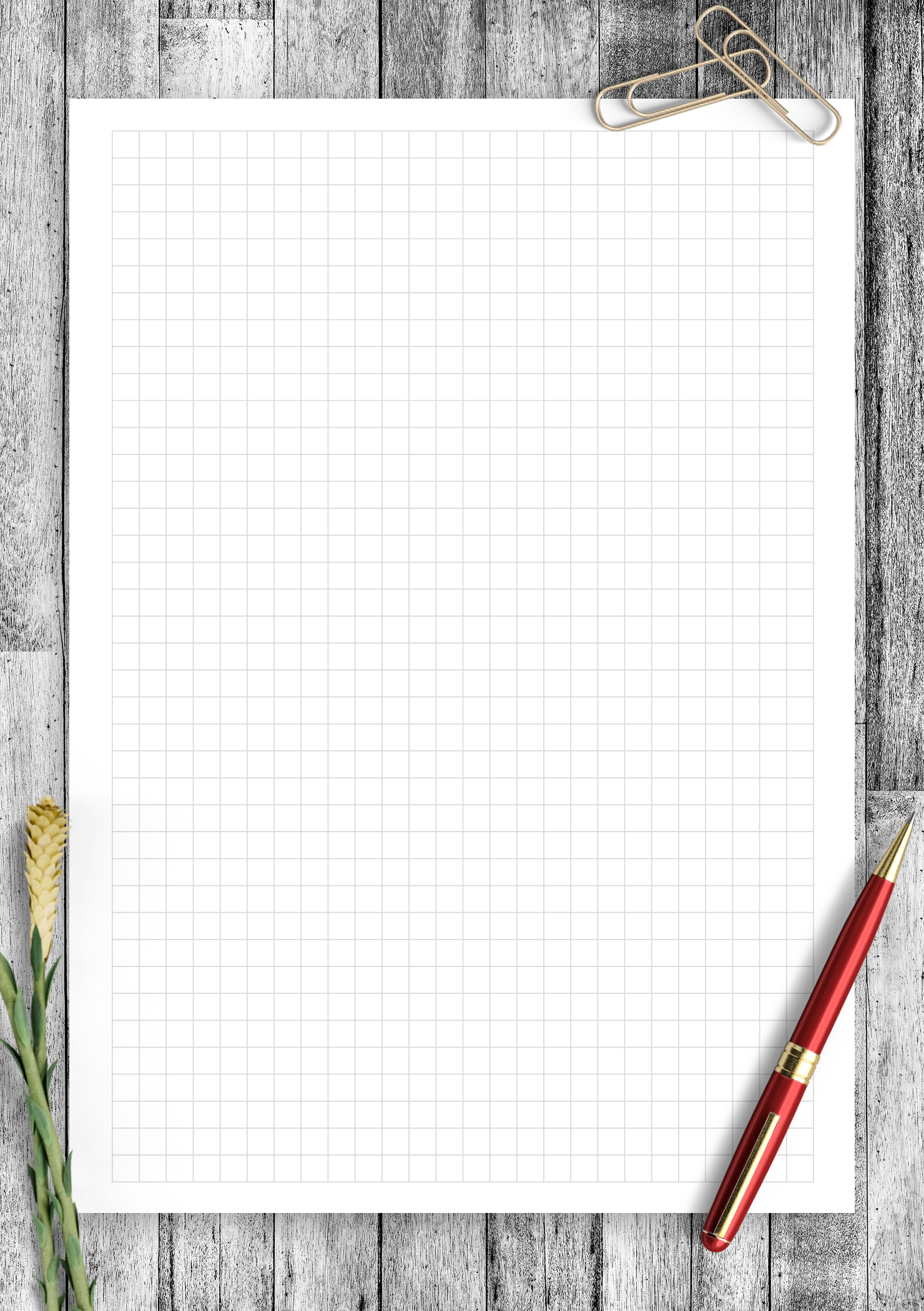 picture regarding Square Printable named Totally free Printable 5 Squares for each inch Graph Paper PDF Obtain