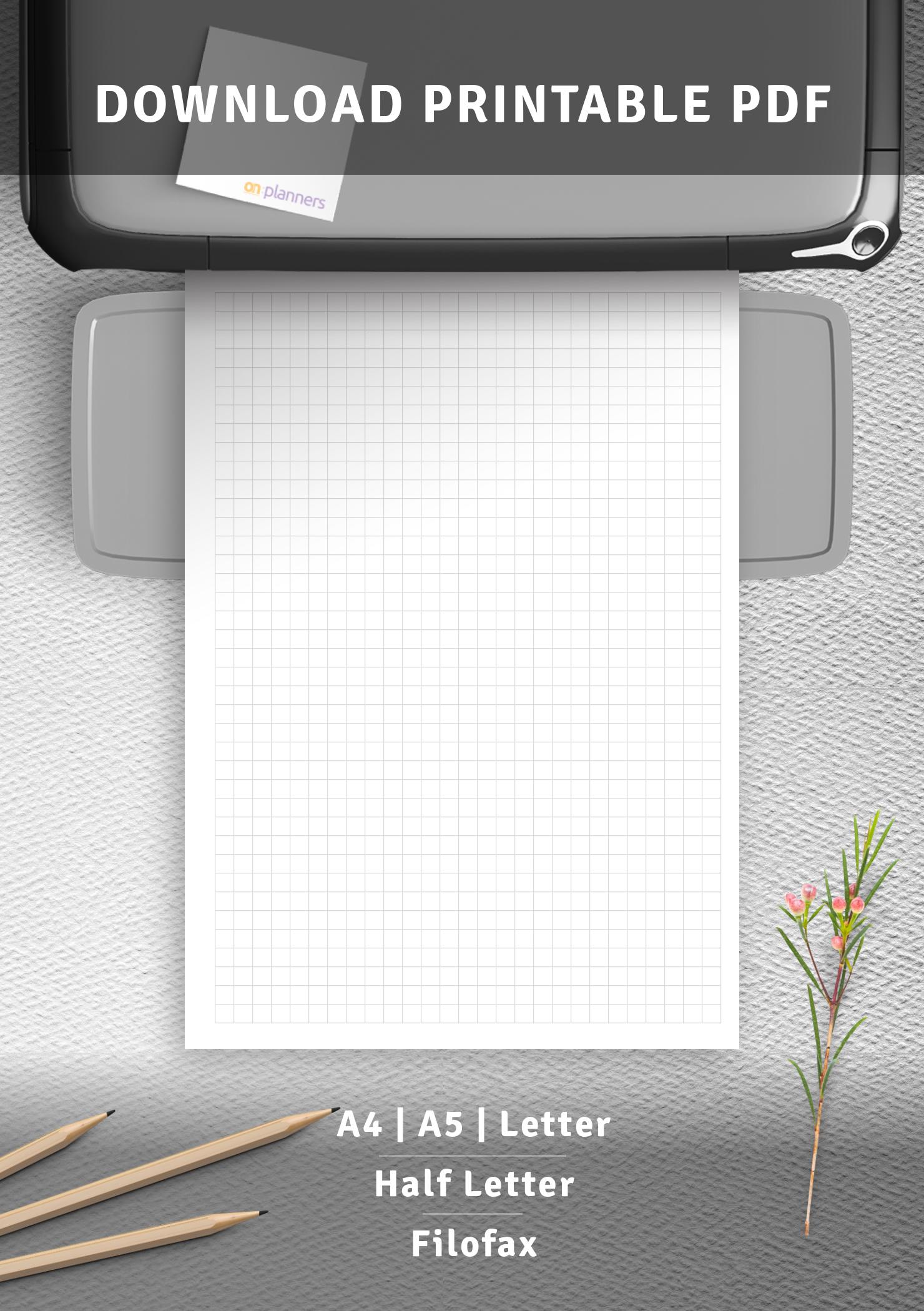 download printable 5mm graph paper printable pdf