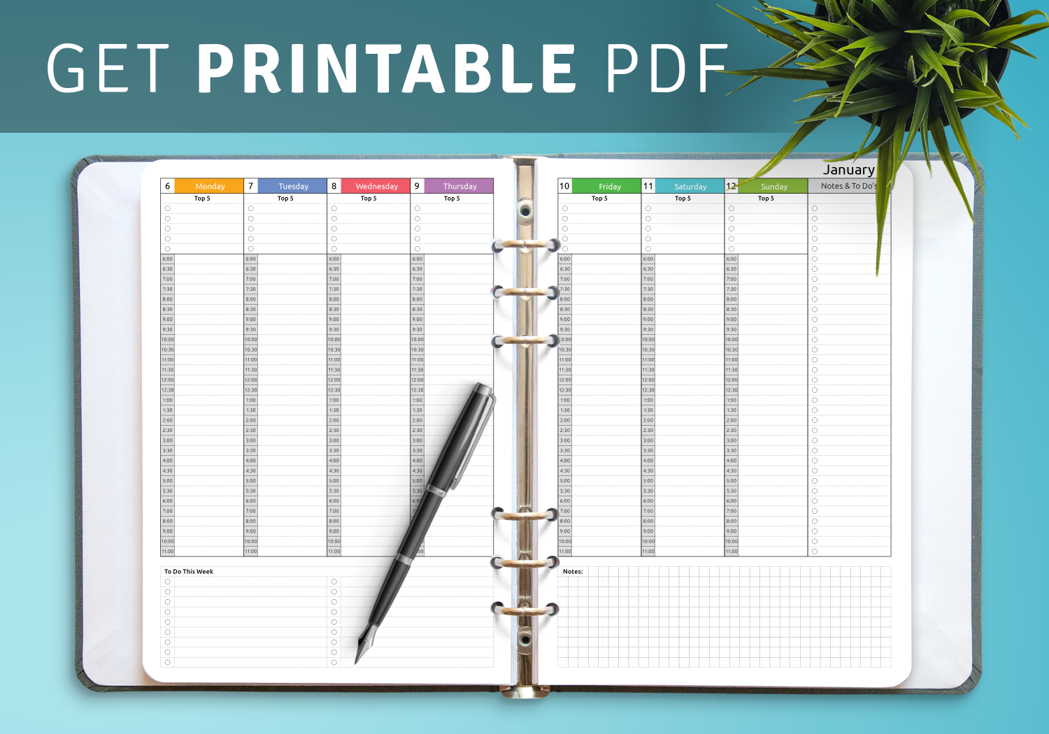 Hourly Weekly Schedule Template from onplanners.com