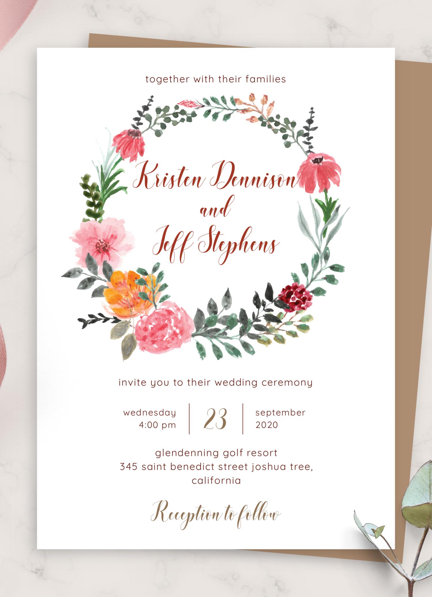Download Printable Country Rustic Wedding Invitation Pdf