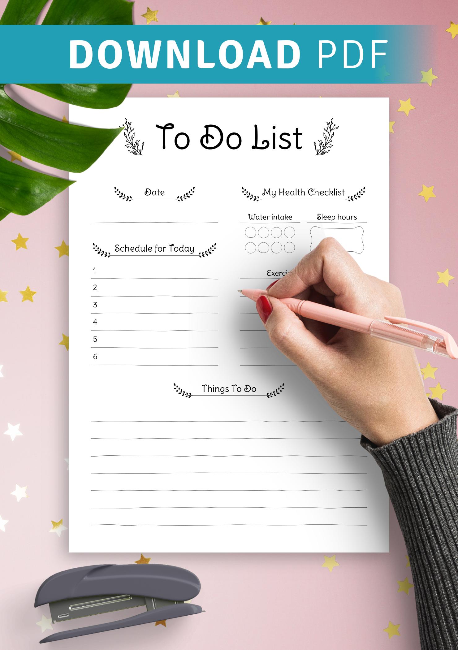 Pdf list To Do
