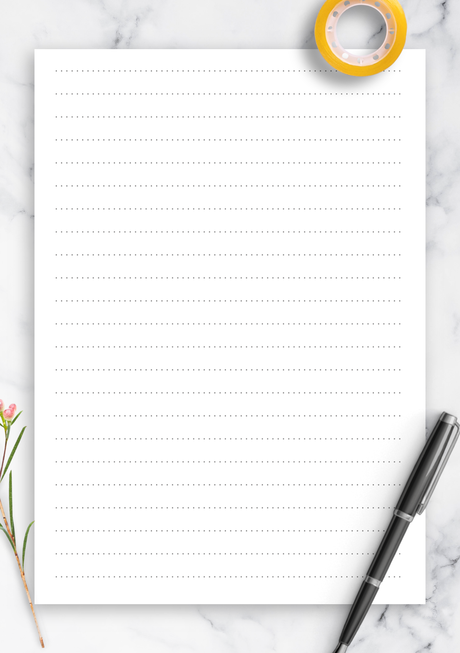 picture regarding Printable Dotted Paper titled No cost Printable Dotted Protected Paper Printables 8.7 mm line