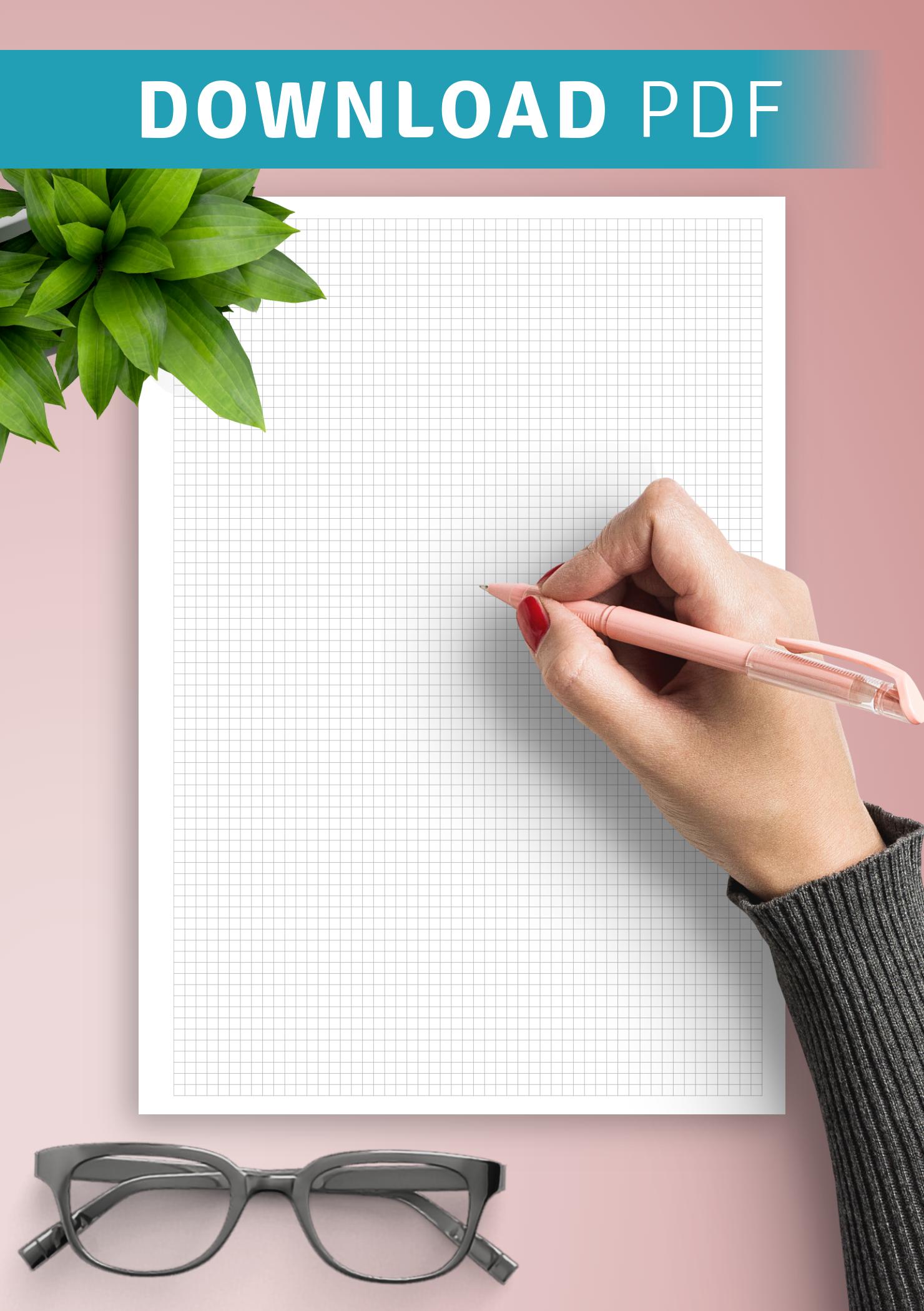 download printable graph paper 10 squares per inch pdf