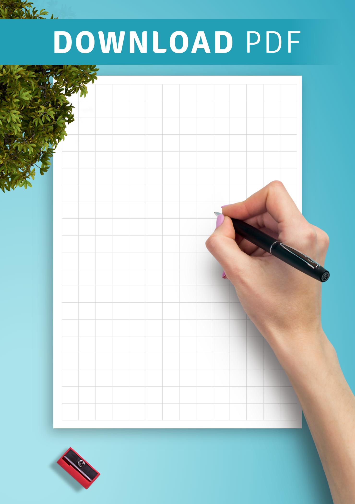 Download Printable Graph Paper 1cm Square PDF