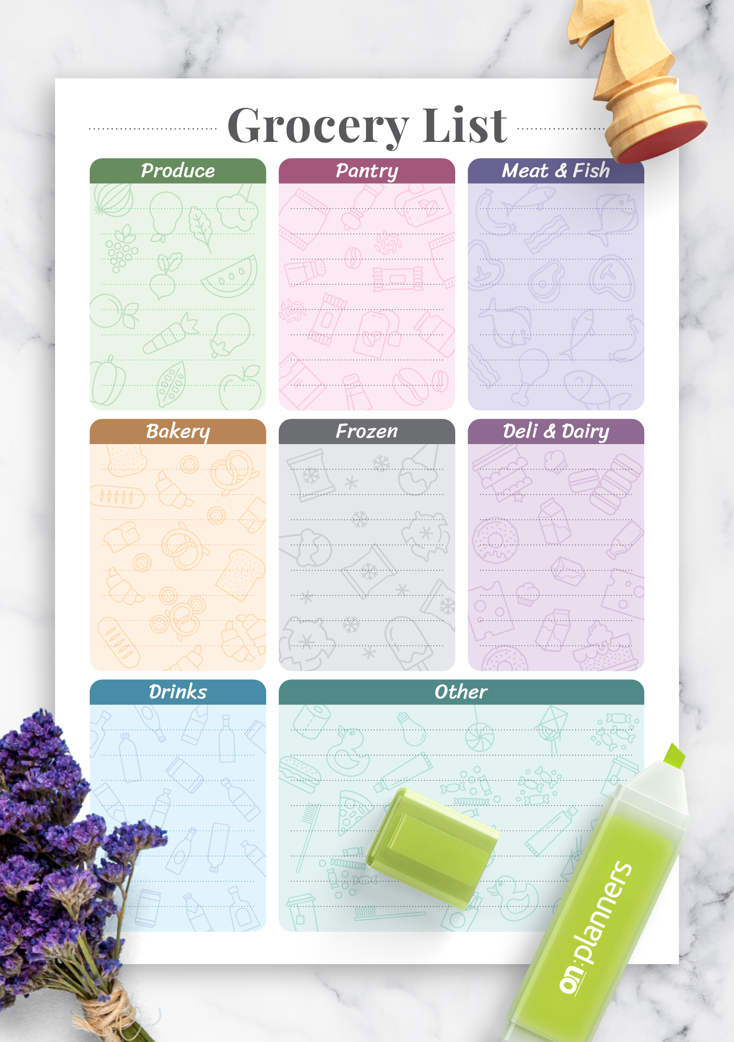 download printable grocery list template pdf