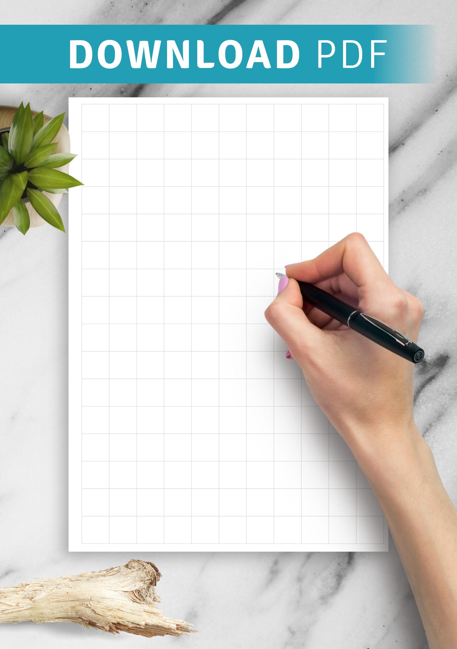 Download Printable Half Inch Graph Paper Pdf
