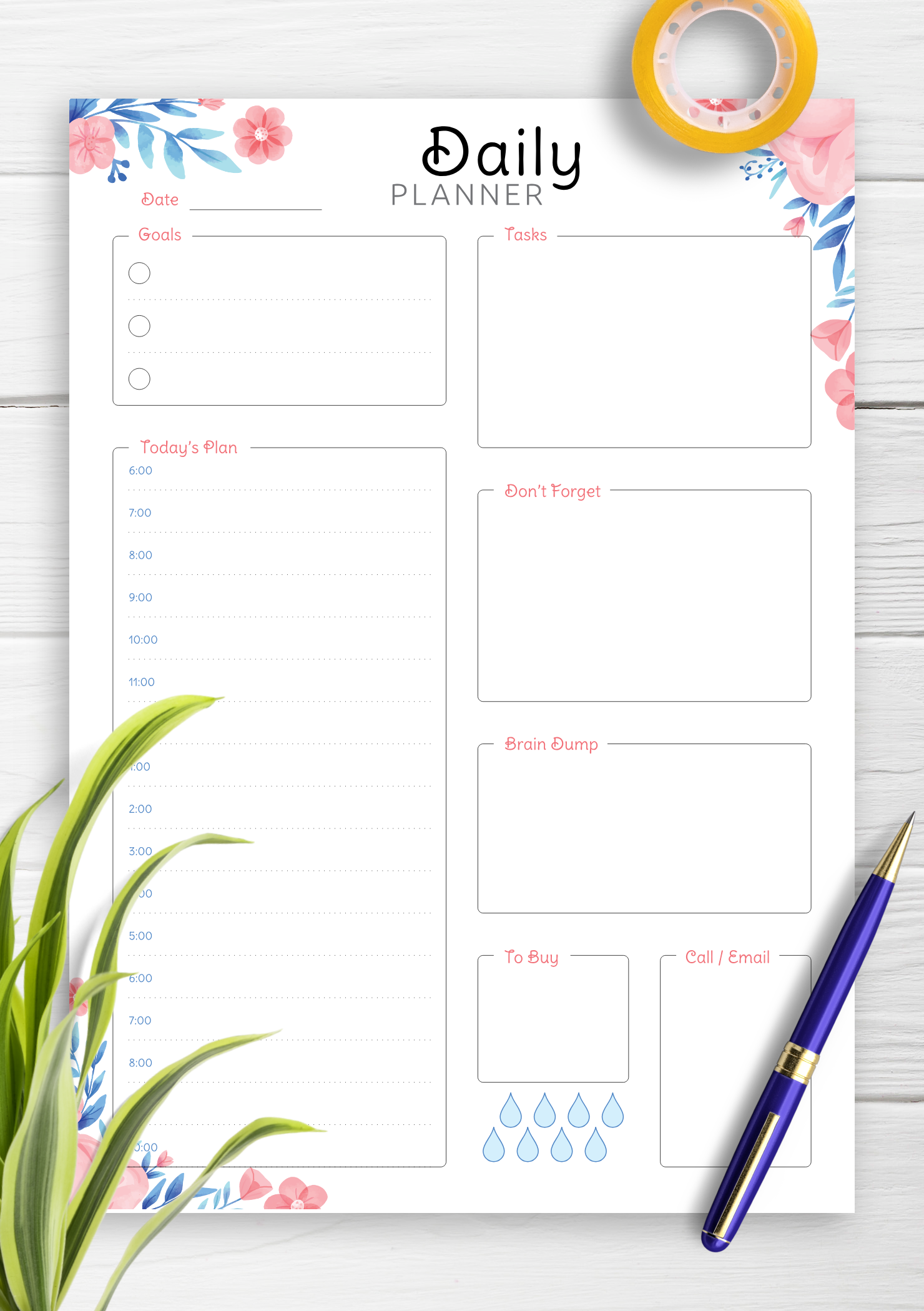 It's just an image of Clean Printable Hourly Schedule