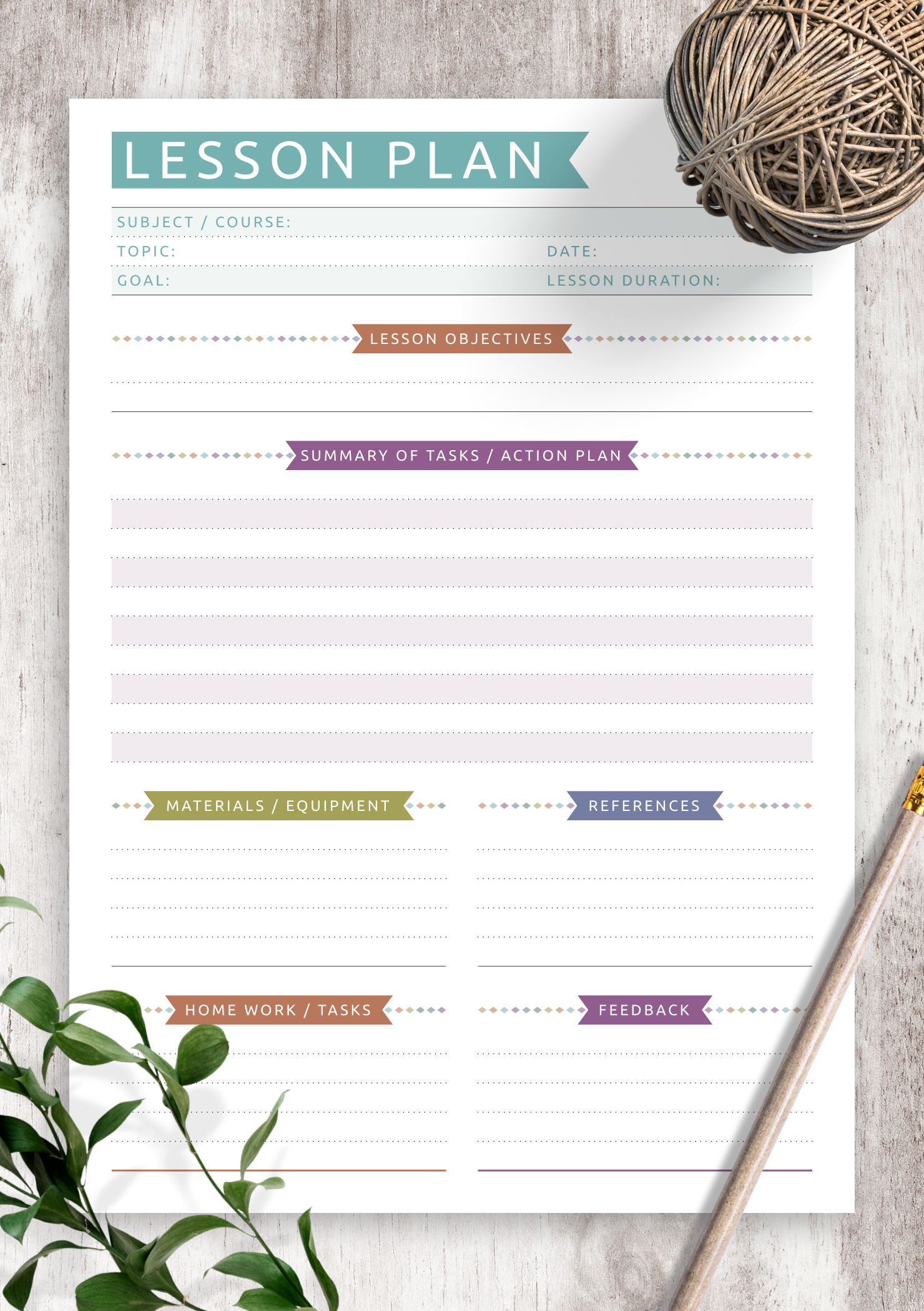It is a photo of Printable Lesson Plans within individual learning plan