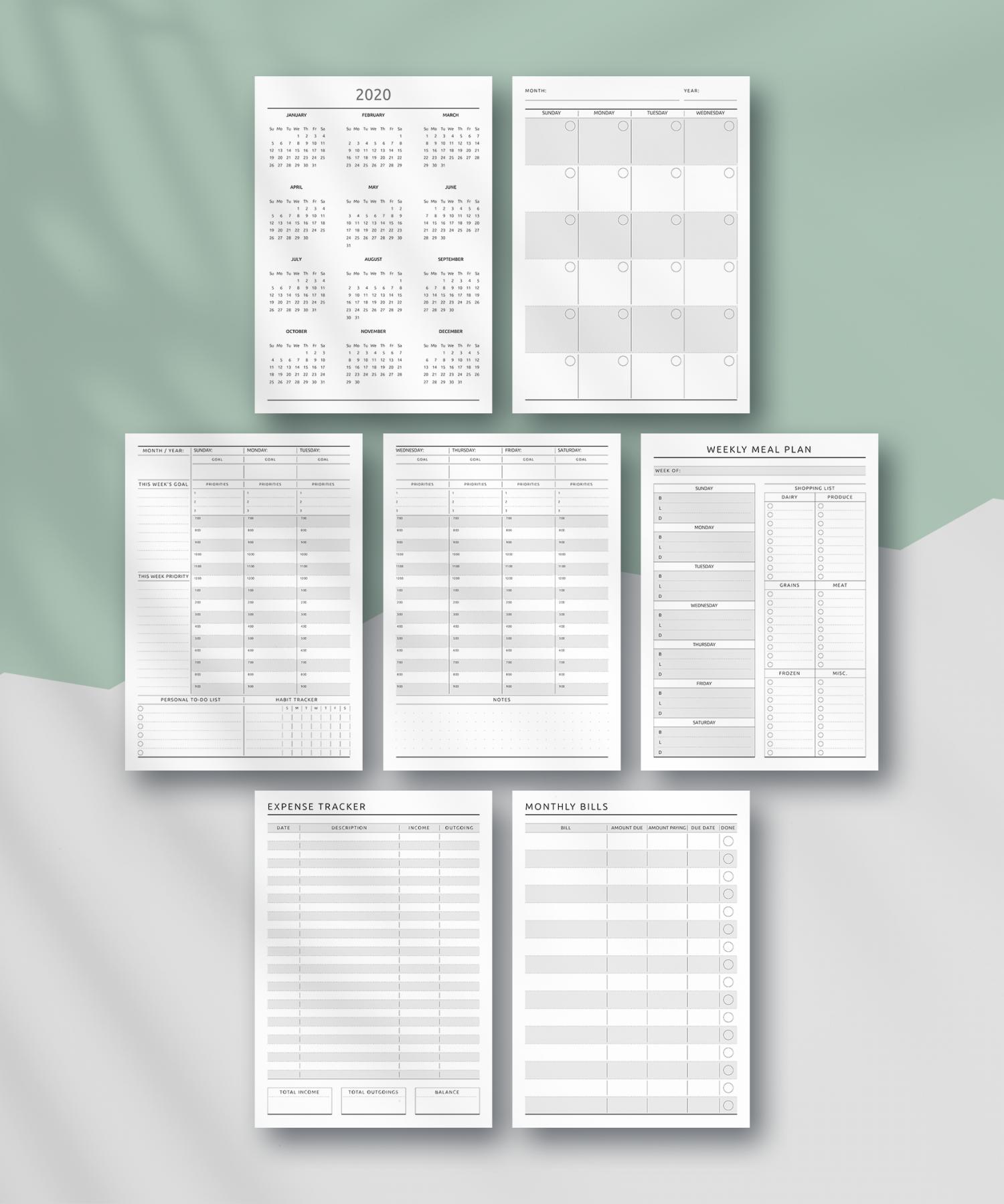 download printable life planner undated