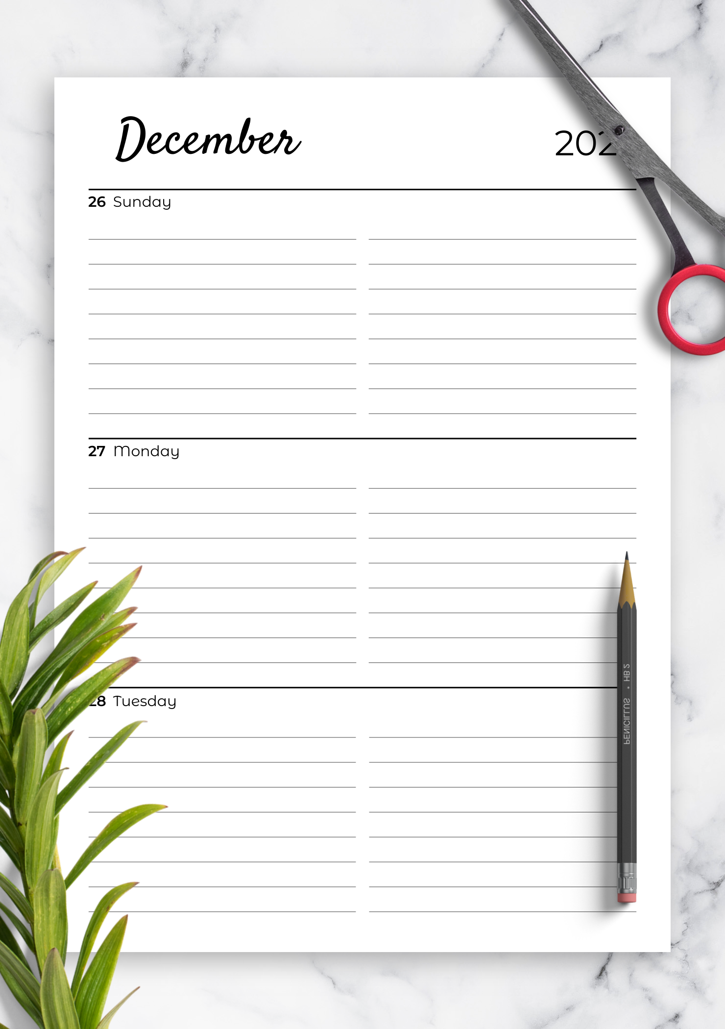 Printable Weekly Planner 2020.Download Printable Lined Weekly Planner With Calendar Pdf