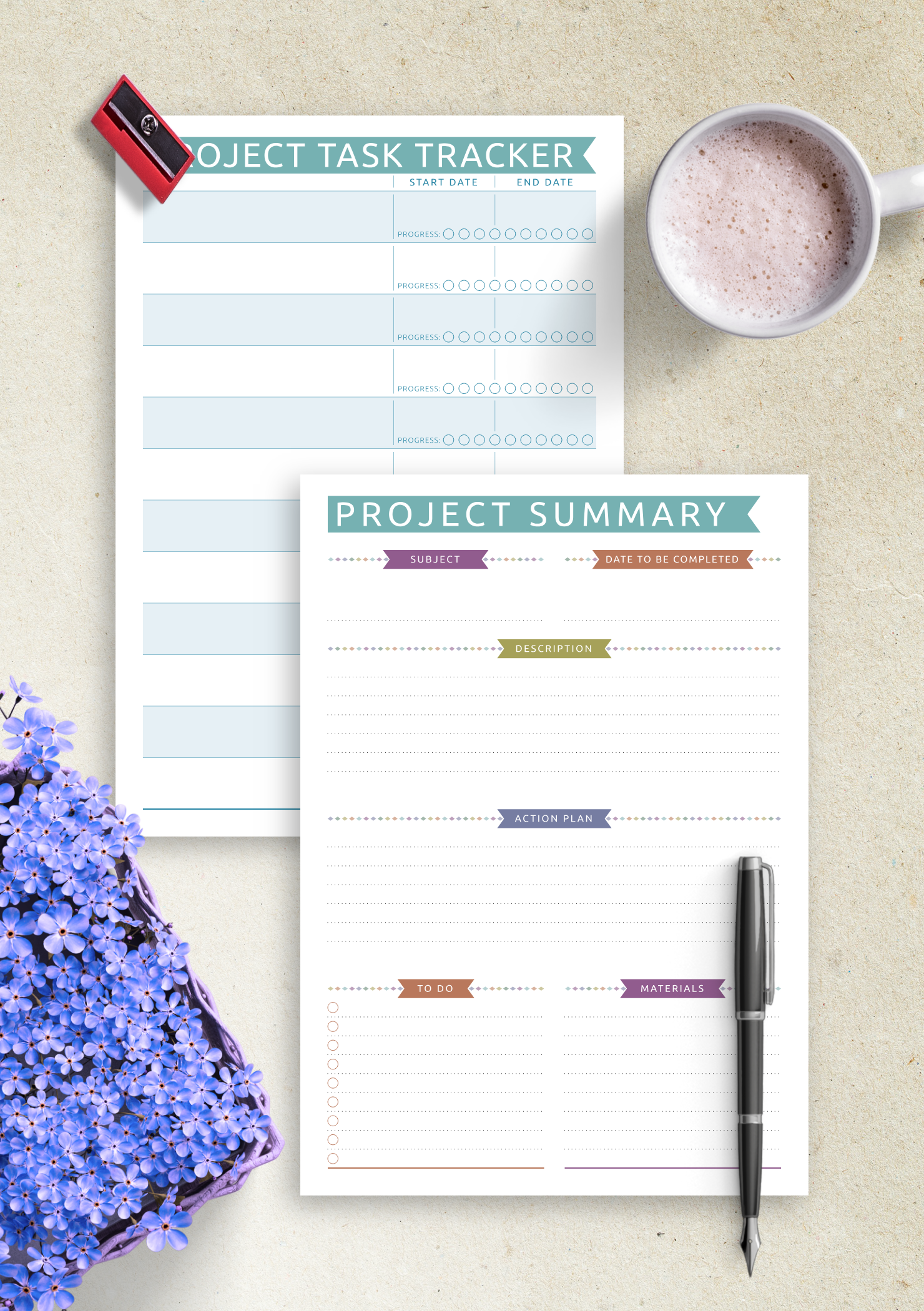 photo about Printable Project Planner identify Absolutely free Printable Job Building - Everyday Design PDF Down load