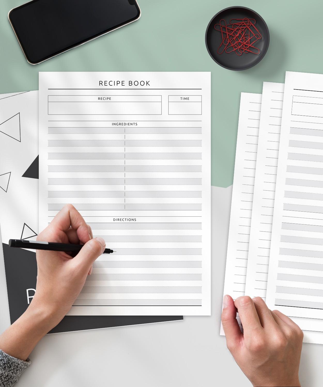 download printable recipe book  simple