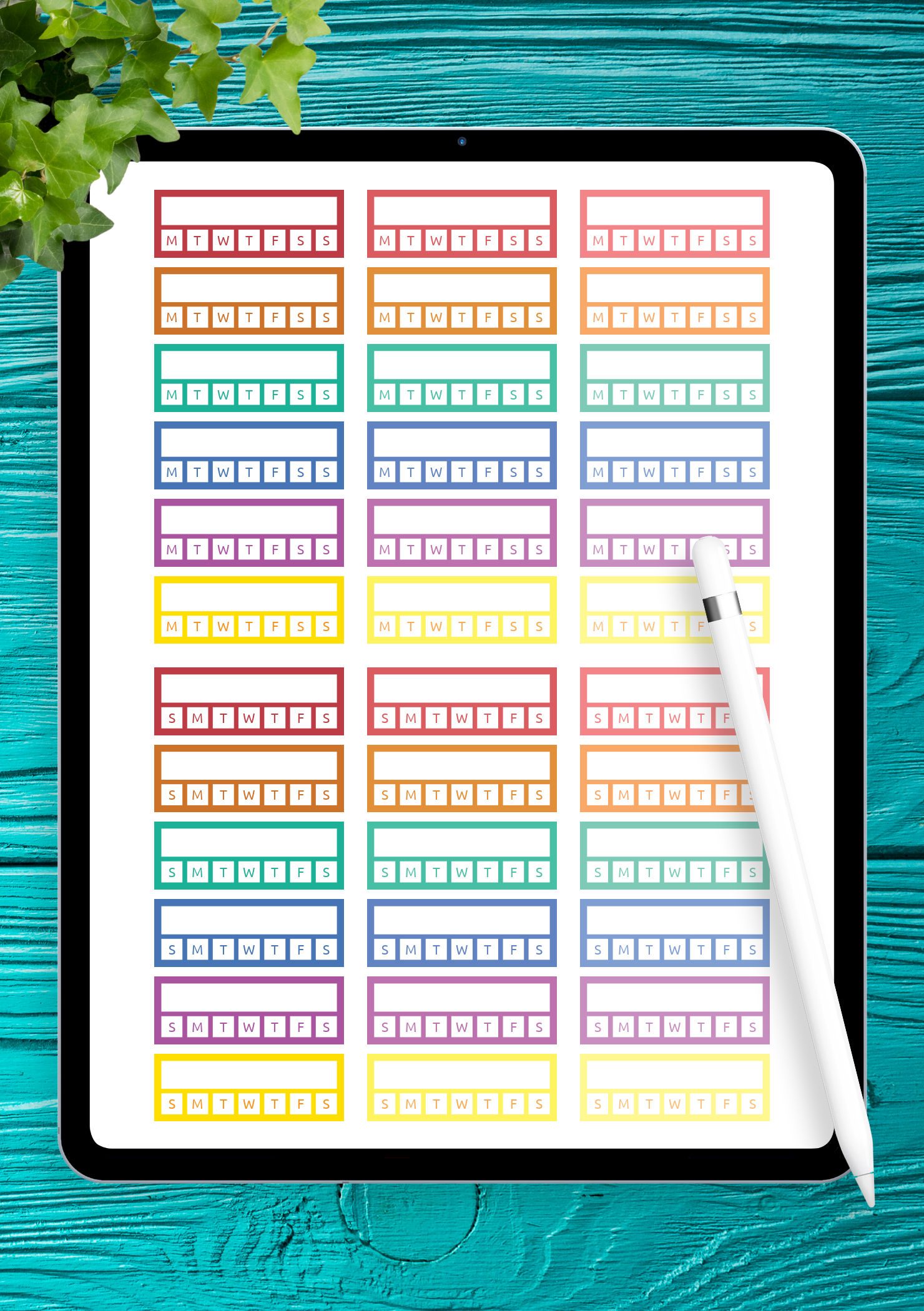 Habit Tracker Sticker Pack Download 36 Png Printable And Digital Stickers