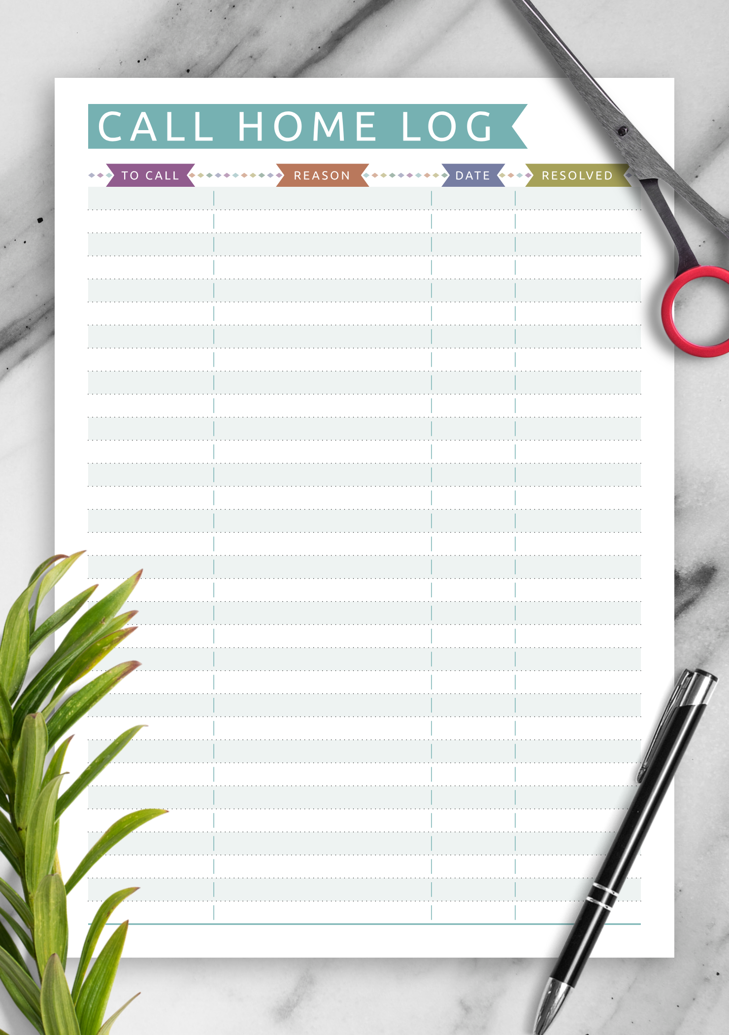 photograph about Printable Student Planner Download identified as Totally free Printable Scholar Data Make contact with Residence - Everyday Structure PDF