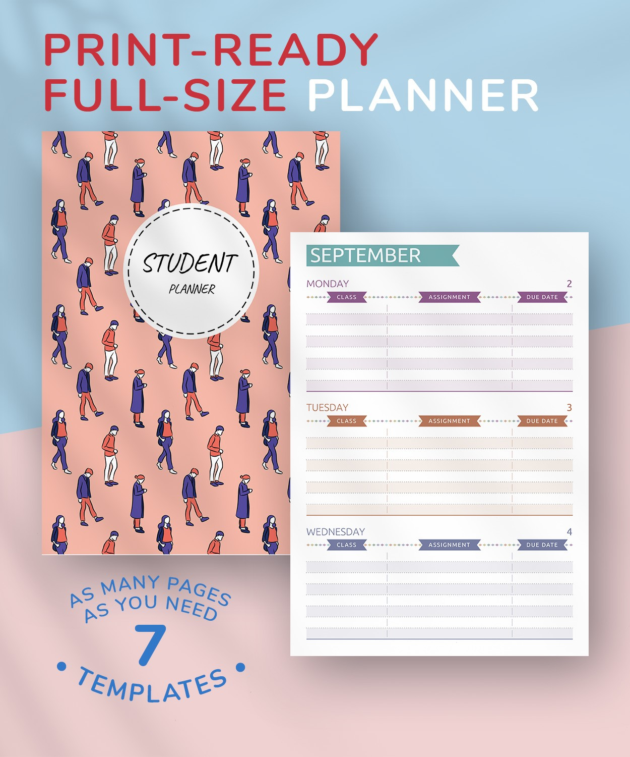 picture regarding Printable Student Planner Download titled No cost Printable Pupil Planner - Relaxed Structure PDF Down load