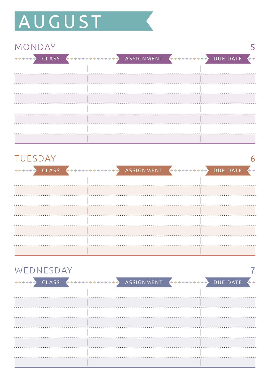 picture relating to Printable Student Planner known as Totally free Printable Scholar Planner - Informal Design PDF Obtain