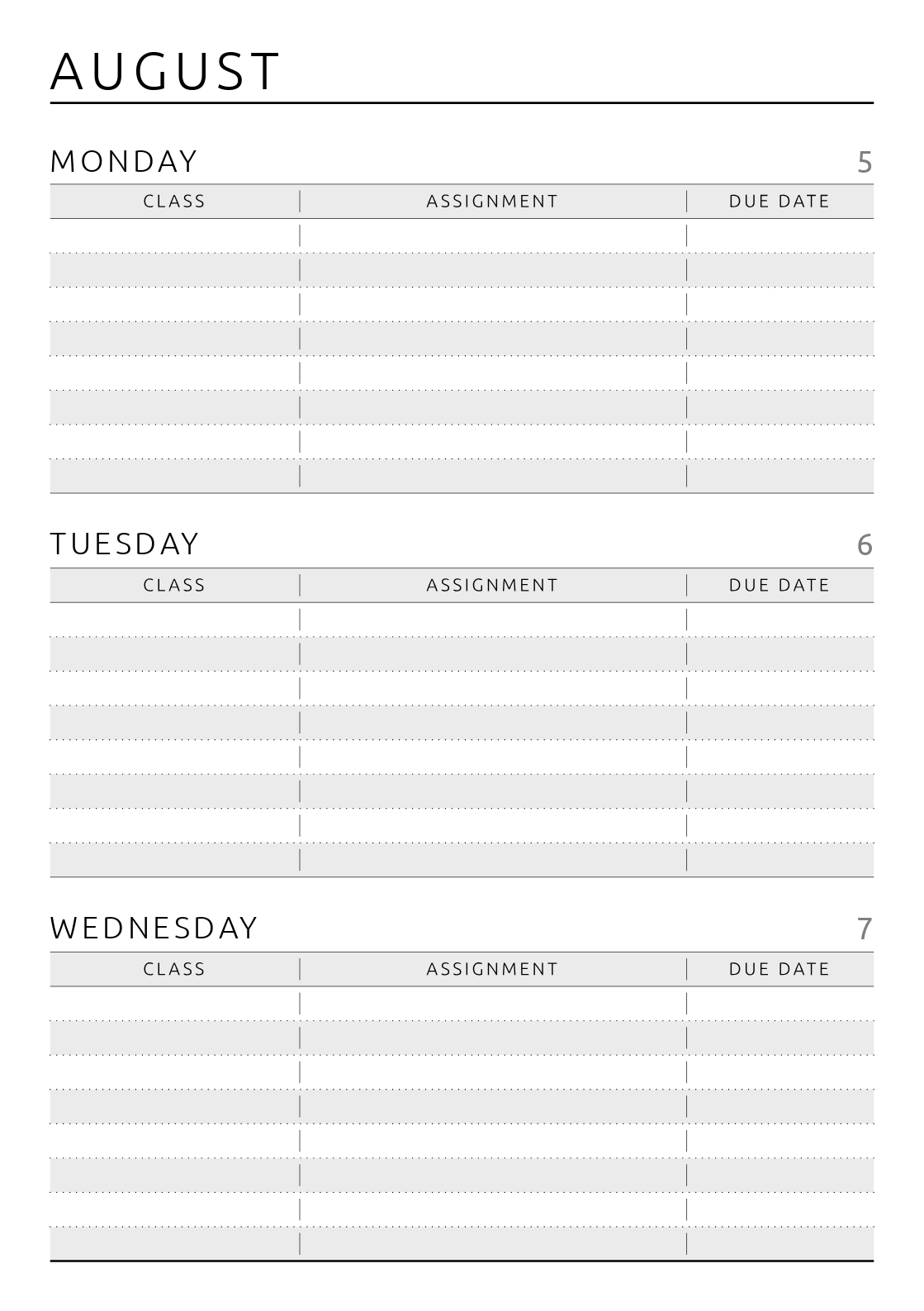 Crush image within printable student planner download