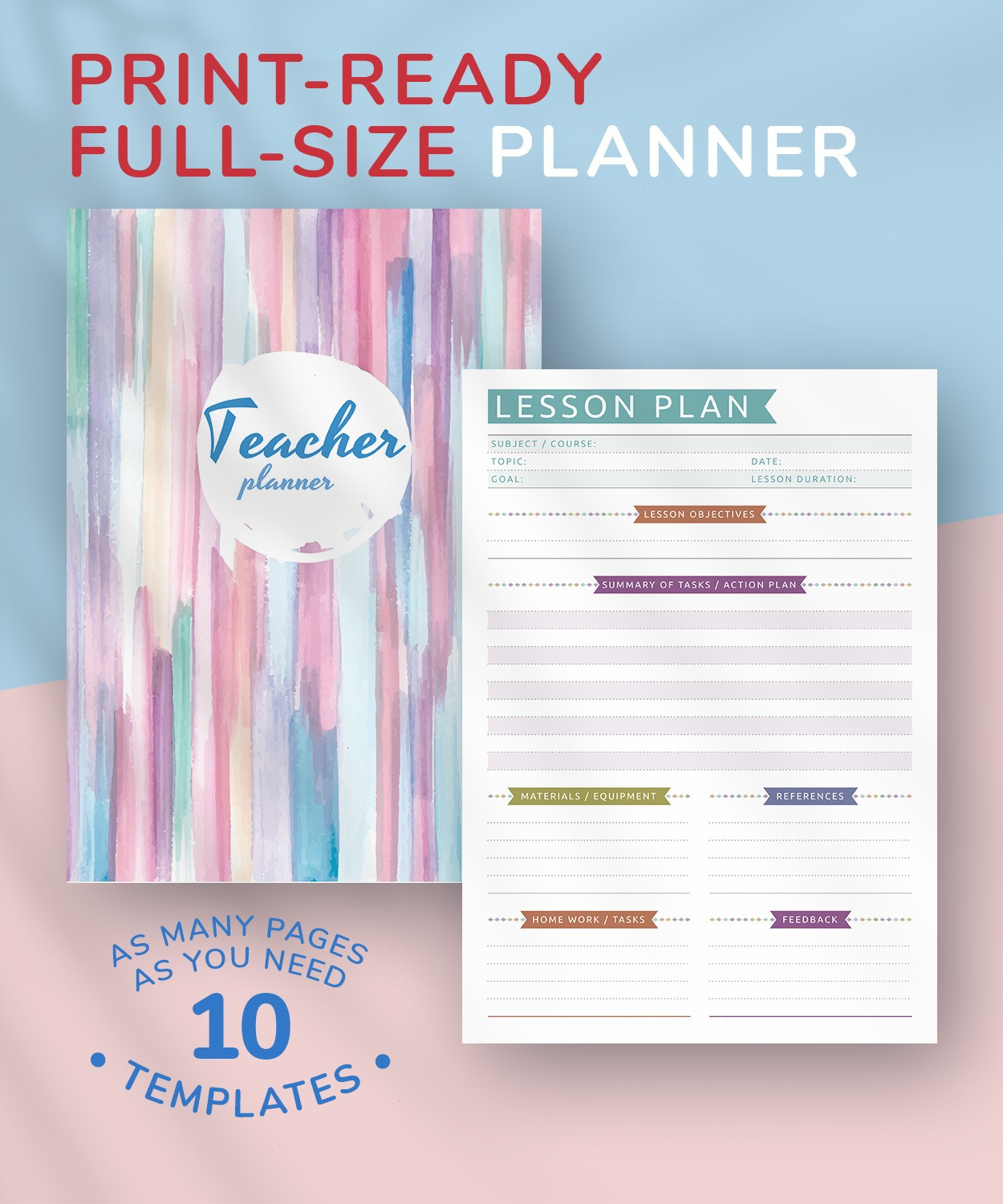 image regarding Printable Teacher Planner titled Absolutely free Printable Trainer Planner - Relaxed Design PDF Down load
