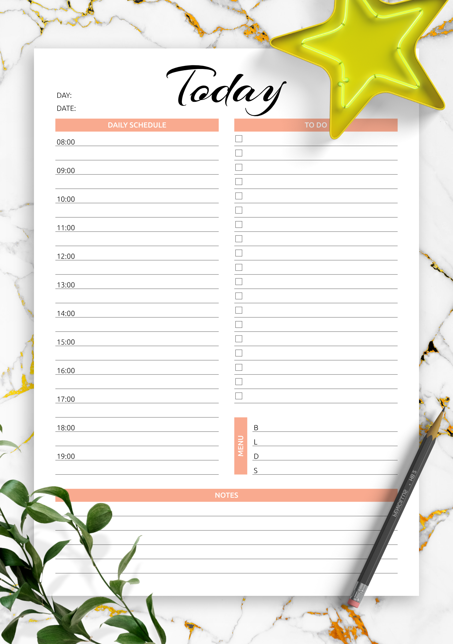 download printable today hourly planner pdf