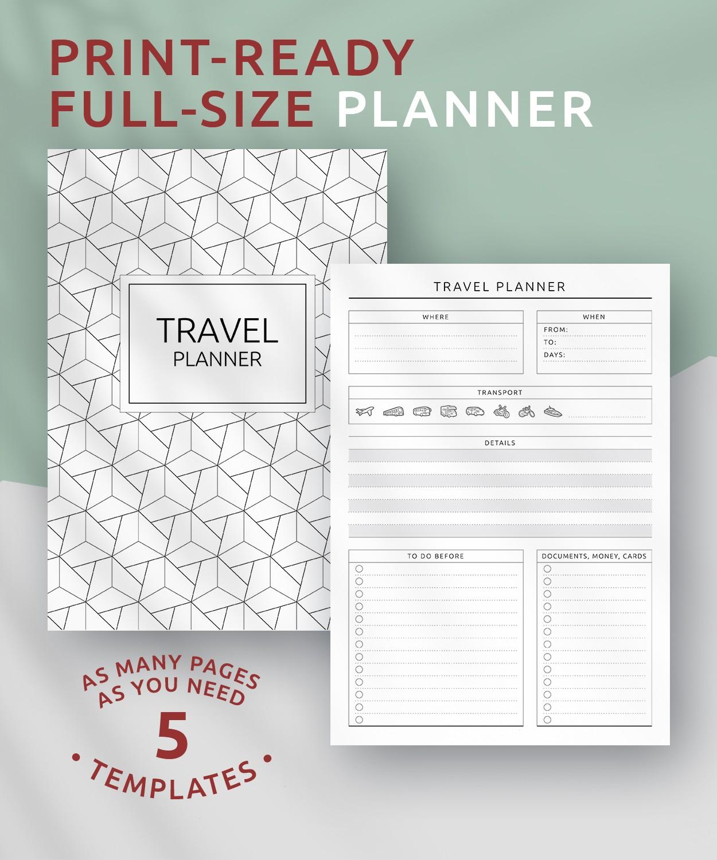 download printable travel planner