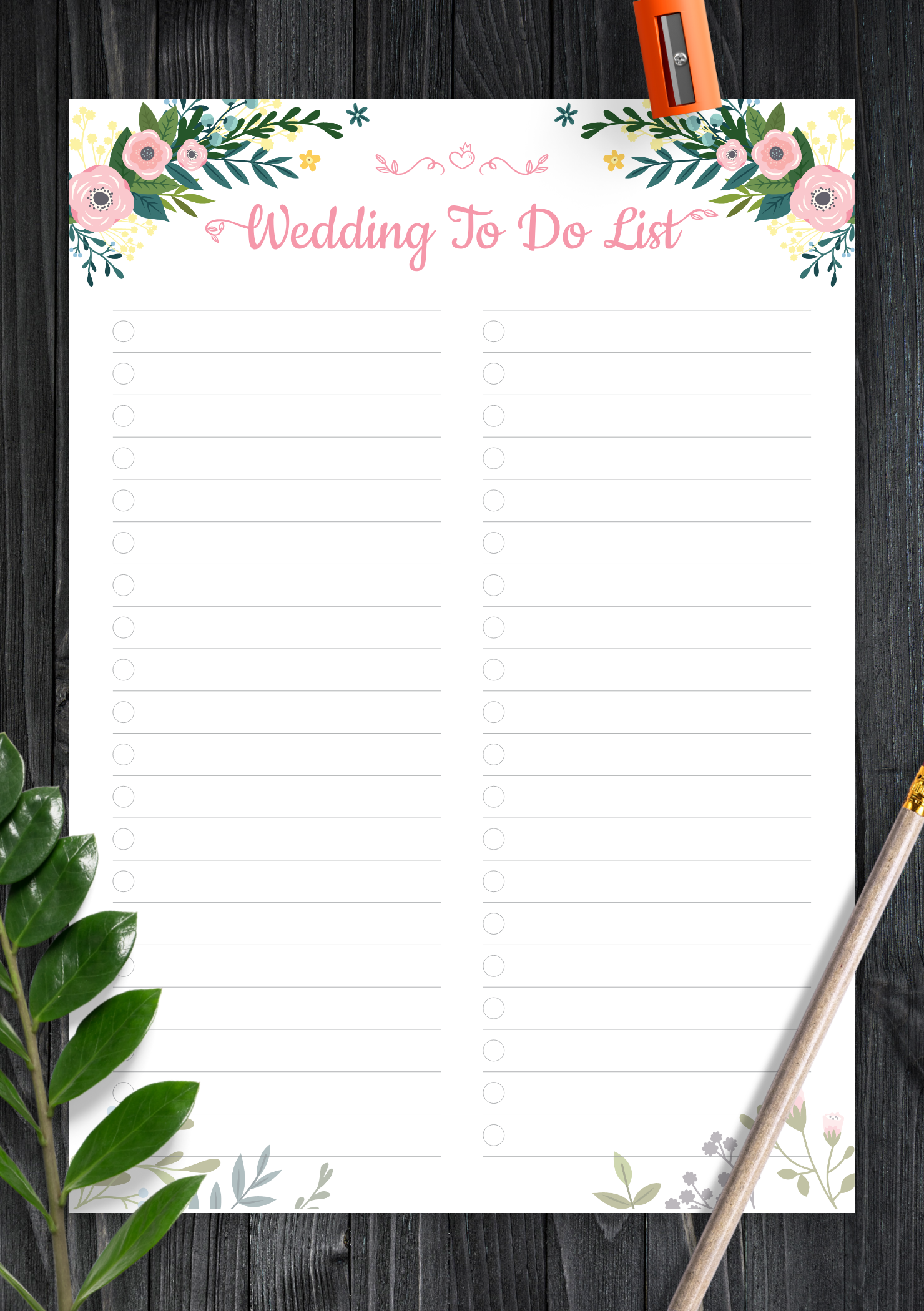 download printable wedding to do list pdf