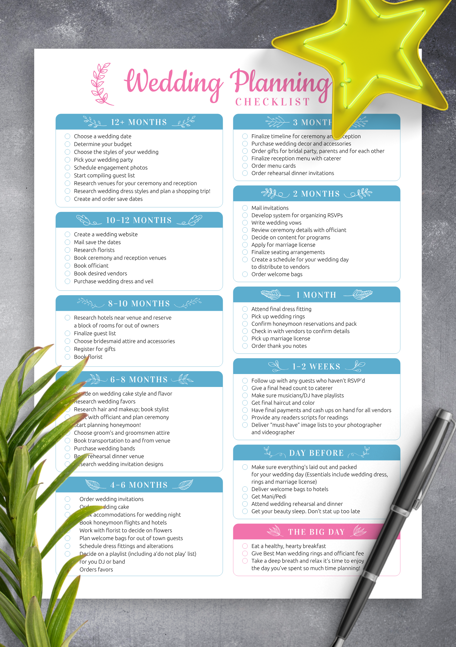 image regarding Printable Wedding Planning referred to as Cost-free Printable Wedding ceremony Designing List PDF Down load