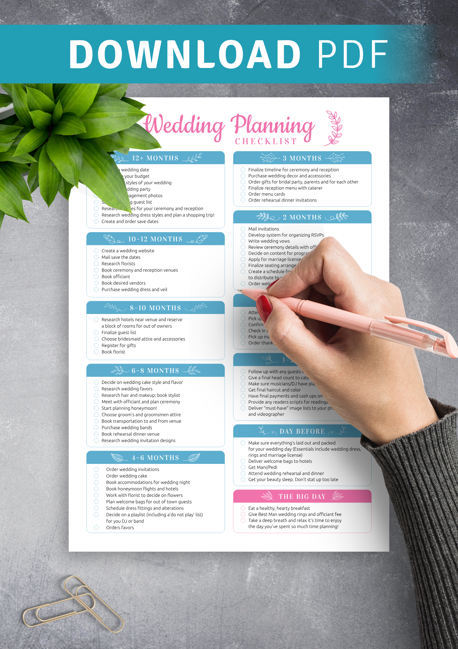 Wedding Planning Checklist Template from onplanners.com