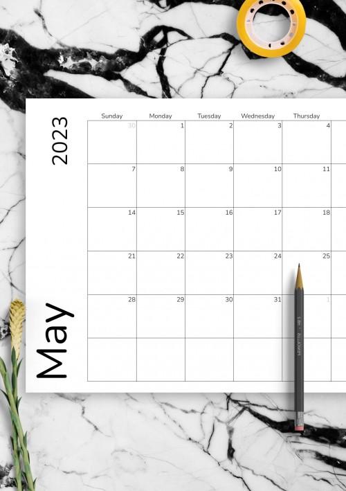 May 2021 Calendar Templates - Download PDF