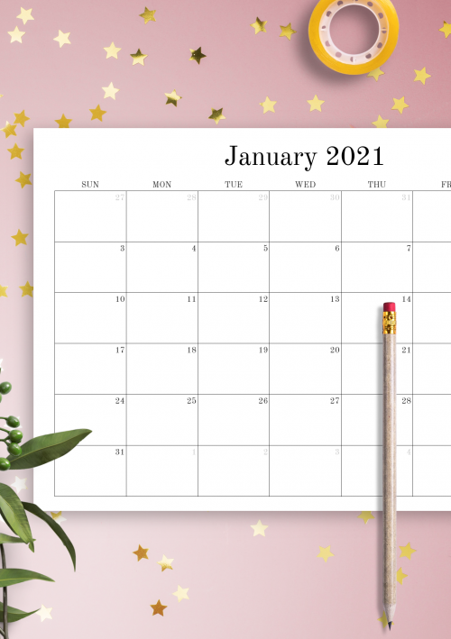 Editable Monthly Calendar Template from onplanners.com