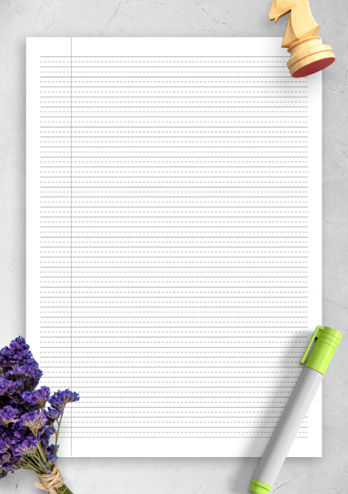 photo about College Ruled Paper Printable identify Coated Paper Template Printables