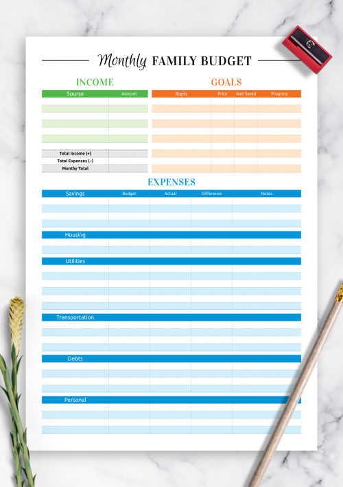 image about Free Budget Printables known as Cost-free Printable Spending budget Templates - Down load PDF A4, A5