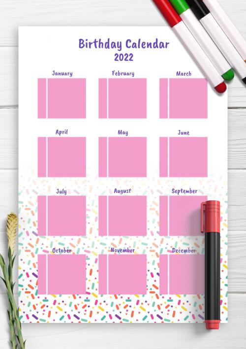 Birthday Calendar Template Word from onplanners.com